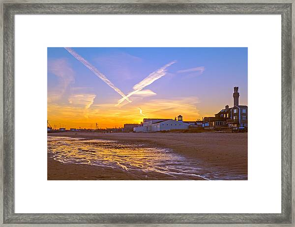 Provincetown Beach At Sunset Framed Print