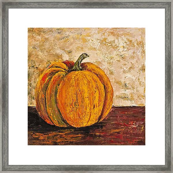 Pumpkin Framed Print