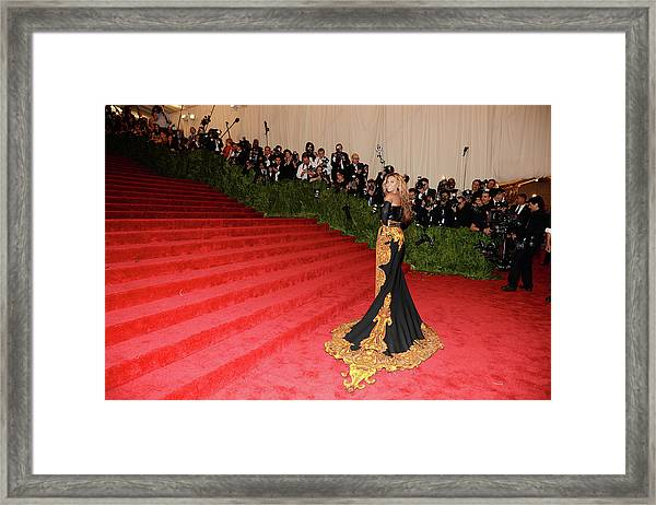 Punk Chaos To Couture Costume Institute Framed Print