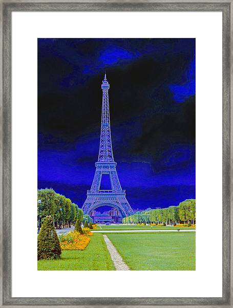 Purple Eiffel Framed Print