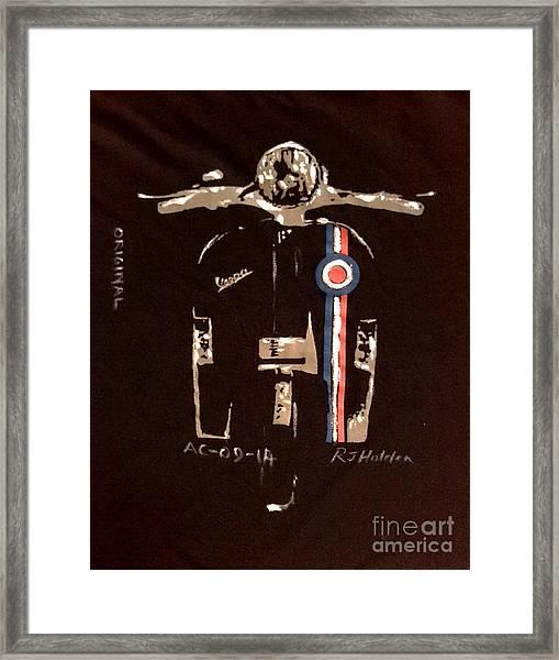 Quadrophenia - Vespa Framed Print by Richard John Holden RA