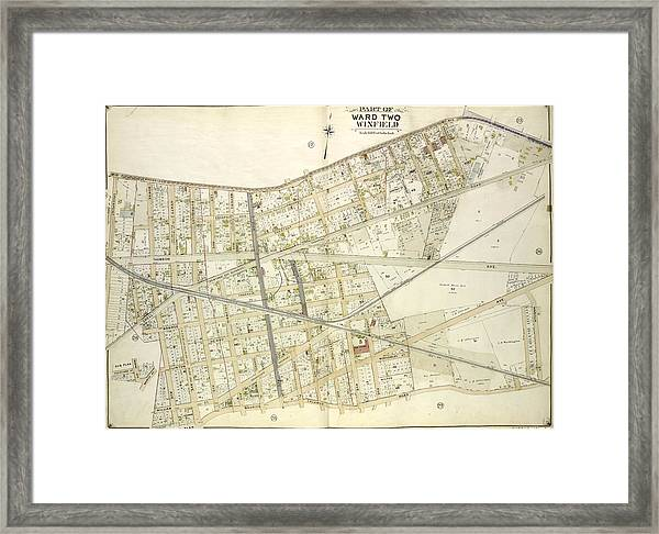 Queens, Vol. 2, Double Page Plate No. 16 Part Of Ward Two Framed Print