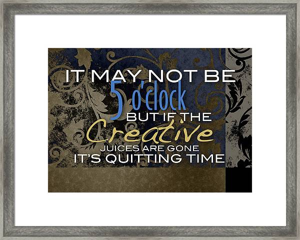 Quitting Time Framed Print