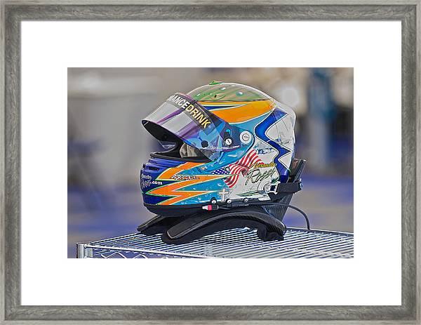 Racing Helmet 2 Framed Print by Dave Koontz