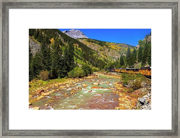 Railroad On The Animas River, San Juan Framed Print