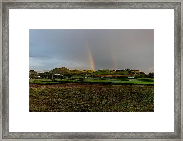 Rainbows Over The Mountain Framed Print