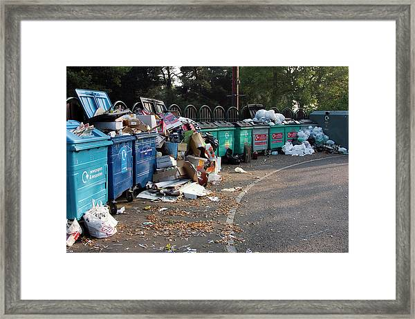 Recycling Site Framed Print by David Taylor/science Photo Library
