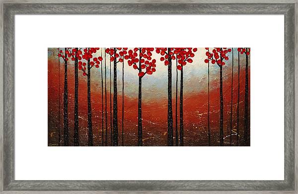 Red Blossom Framed Print