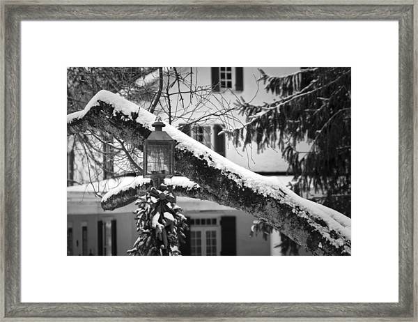 Holiday Candle Light Framed Print
