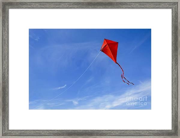 Red Kite In The Sky Framed Print