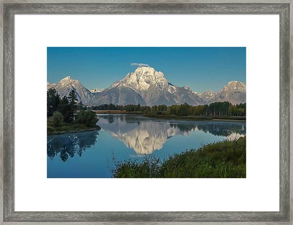Reflections Of Mount Moran Framed Print