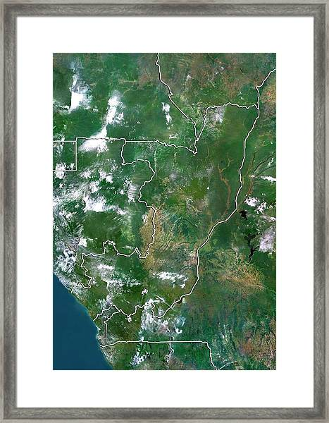 Republic Of The Congo Framed Print