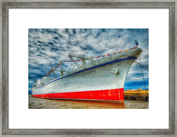 Resting Savannah Framed Print