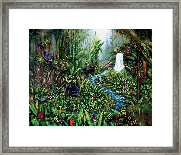 Framed Print featuring the painting Resurgence by Lynn Buettner