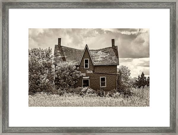Retirement Sepia Framed Print