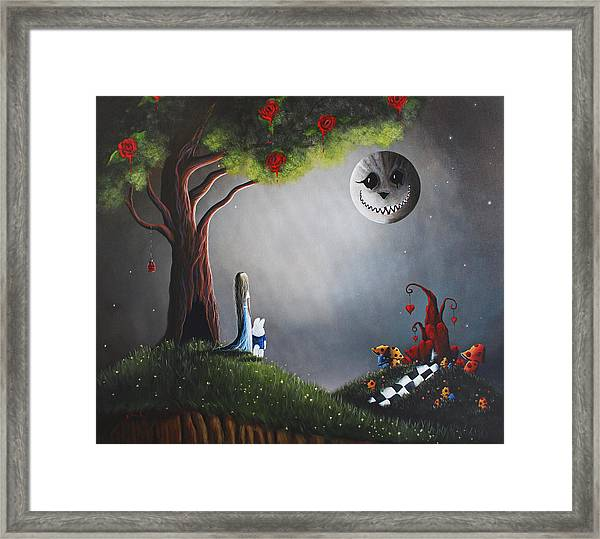 Alice In Wonderland Original Artwork Framed Print