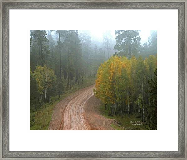 Rim Road Framed Print