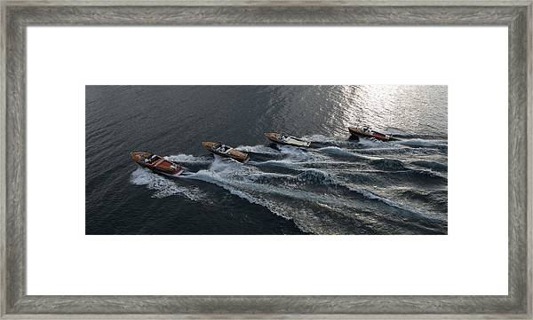 Riva Runabouts Aerial Framed Print