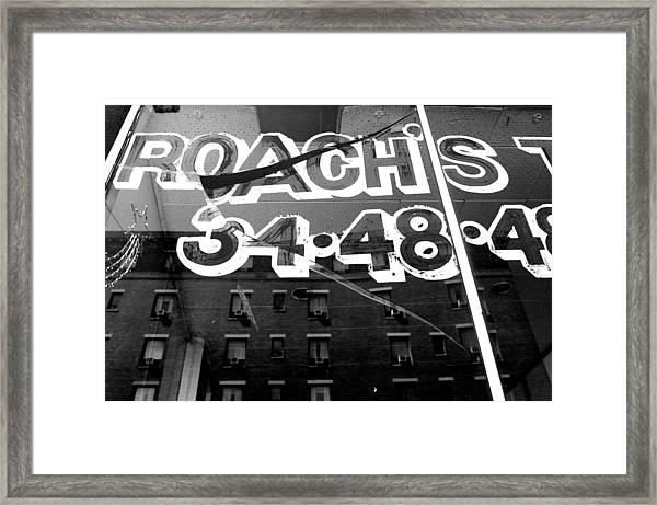 Roach's Framed Print