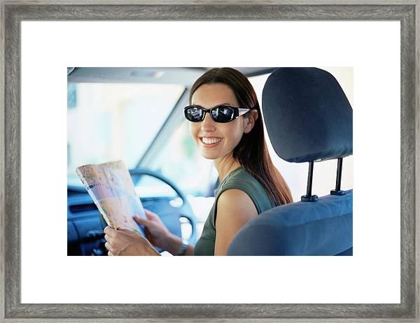 Road Navigation Framed Print