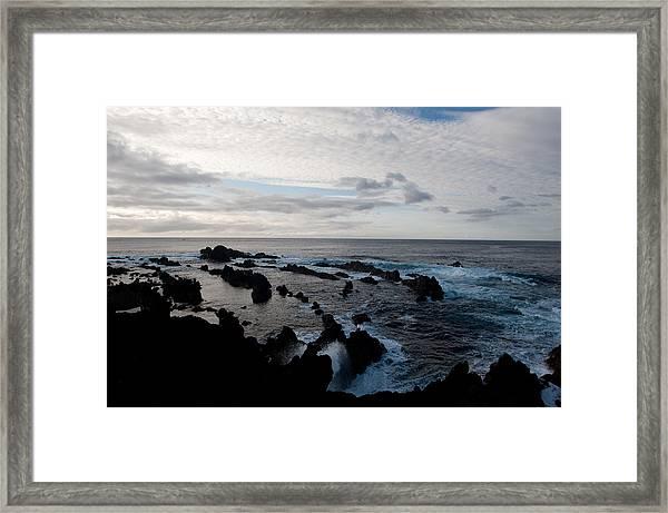 Rocky Beach At Dusk  Framed Print