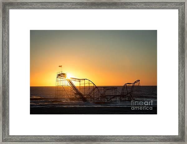 Roller Coaster Sunrise Framed Print