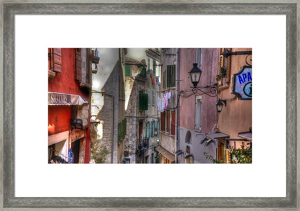 Street Lamps Framed Print