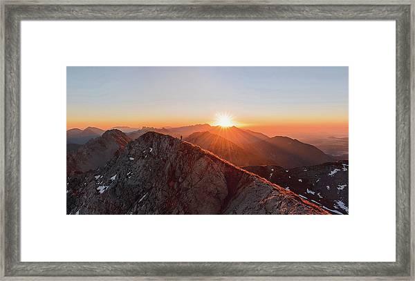 Running On The Ridge Framed Print