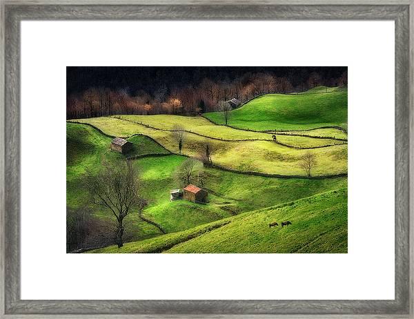 Rural Life Framed Print by Oskar Baglietto