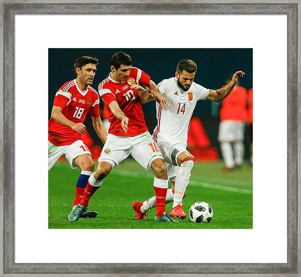 Russia Vs Spain - International Friendly Framed Print by Epsilon