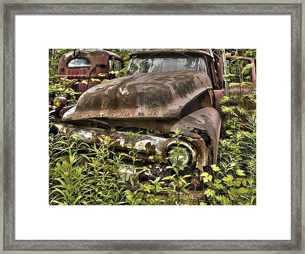 Rusty And Crusty Truck Framed Print