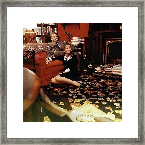 S. Carter Burden Jr. With His Wife Amanda Framed Print