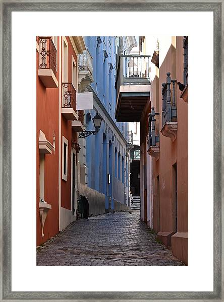San Francisco Chapel Alley Framed Print