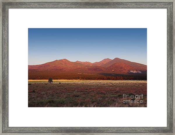 San Francisco Peaks Sunrise Framed Print
