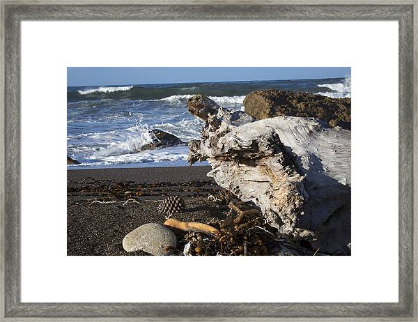 San Simeon Beach Framed Print by Jose M Beltran