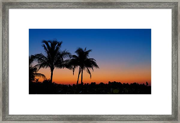 Sanibel Island Florida Sunset Framed Print