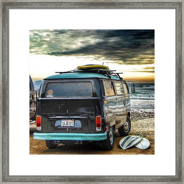 Sano Surf Bus And Boards Framed Print