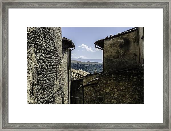 Santo Stefano Di Sessanio - Italy  Framed Print