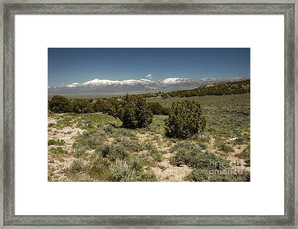 618p Schell Creek Range Nv Framed Print
