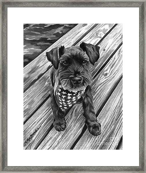 Ragnar Black Dog Framed Print