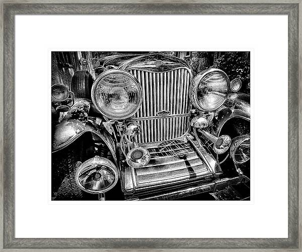 Scully Lincoln Bw Framed Print