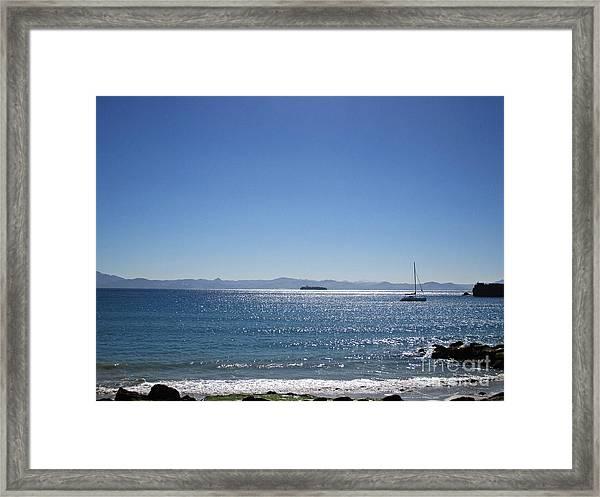 Sea In Tarifa Framed Print