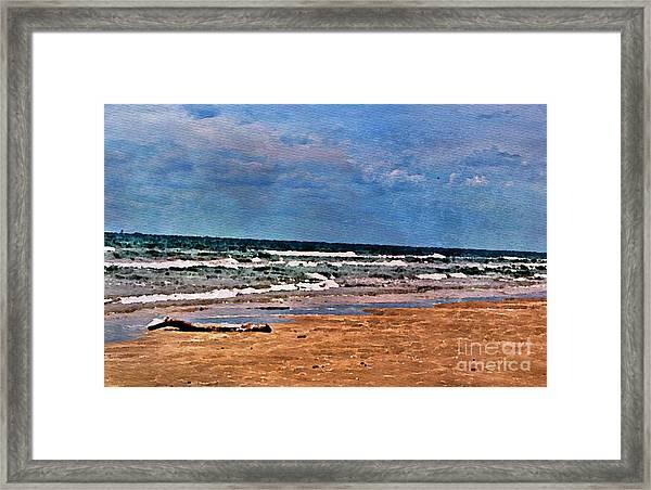 Sea Sand Wc Framed Print