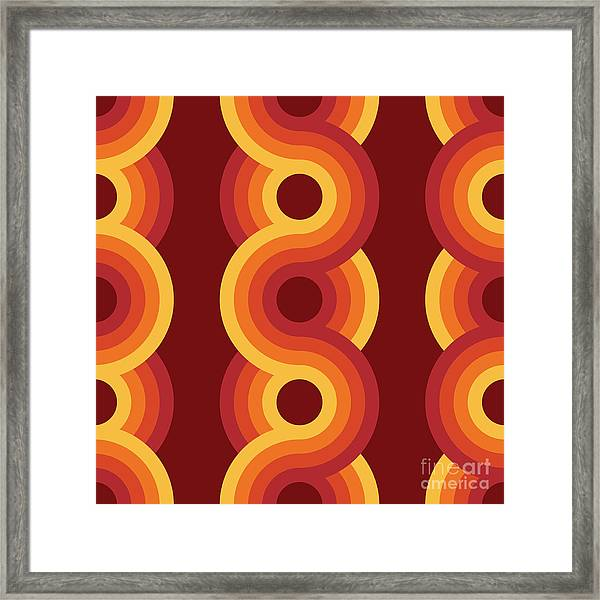 Seamless Geometric Vintage Wallpaper Framed Print