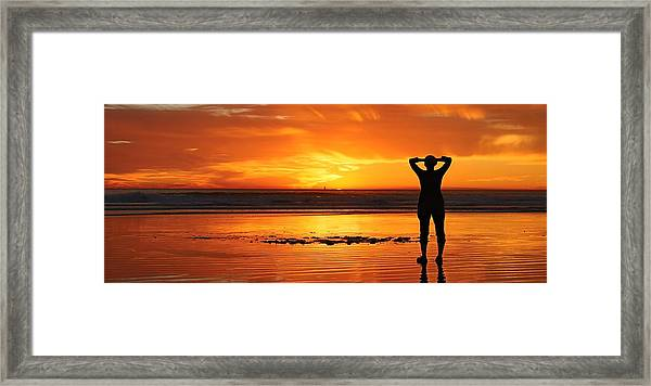 Seaside Reflections  Framed Print