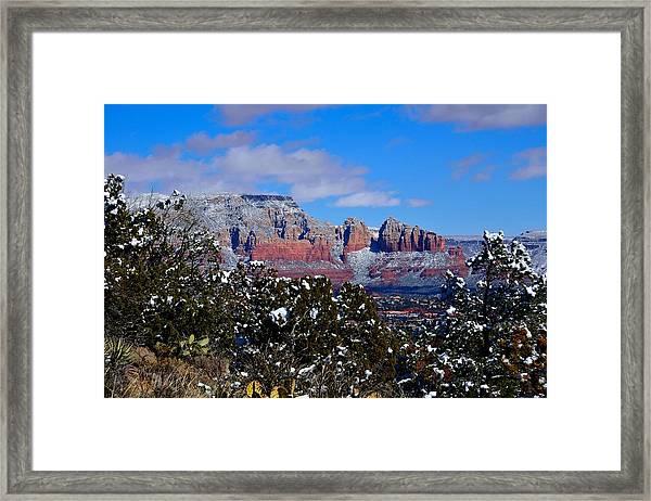 Sedona Snow Framed Print