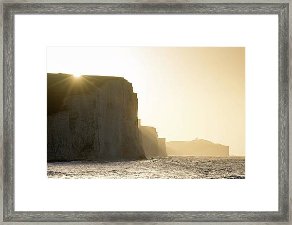 Seven Sisters From Cuckmere Haven Beach Framed Print