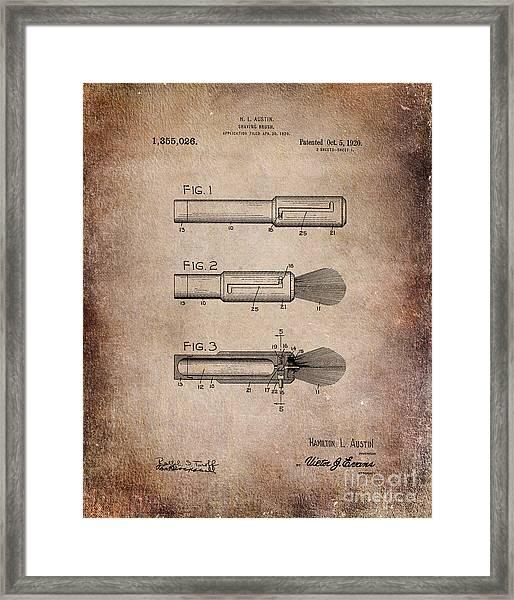 Shaving Brush Diagram 1920  Framed Print