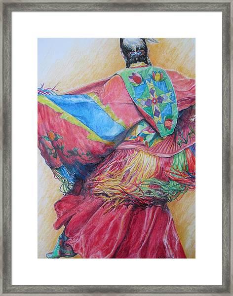Shawl Dancer Framed Print