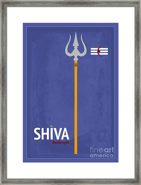 Shiva The Destroyer Framed Print